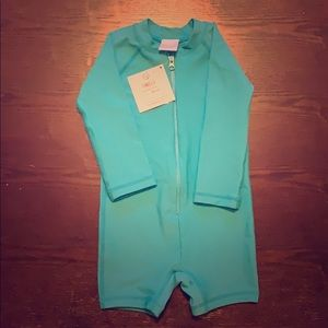 Hanna Andersson NWT Aqua swimsuit 18-24 months